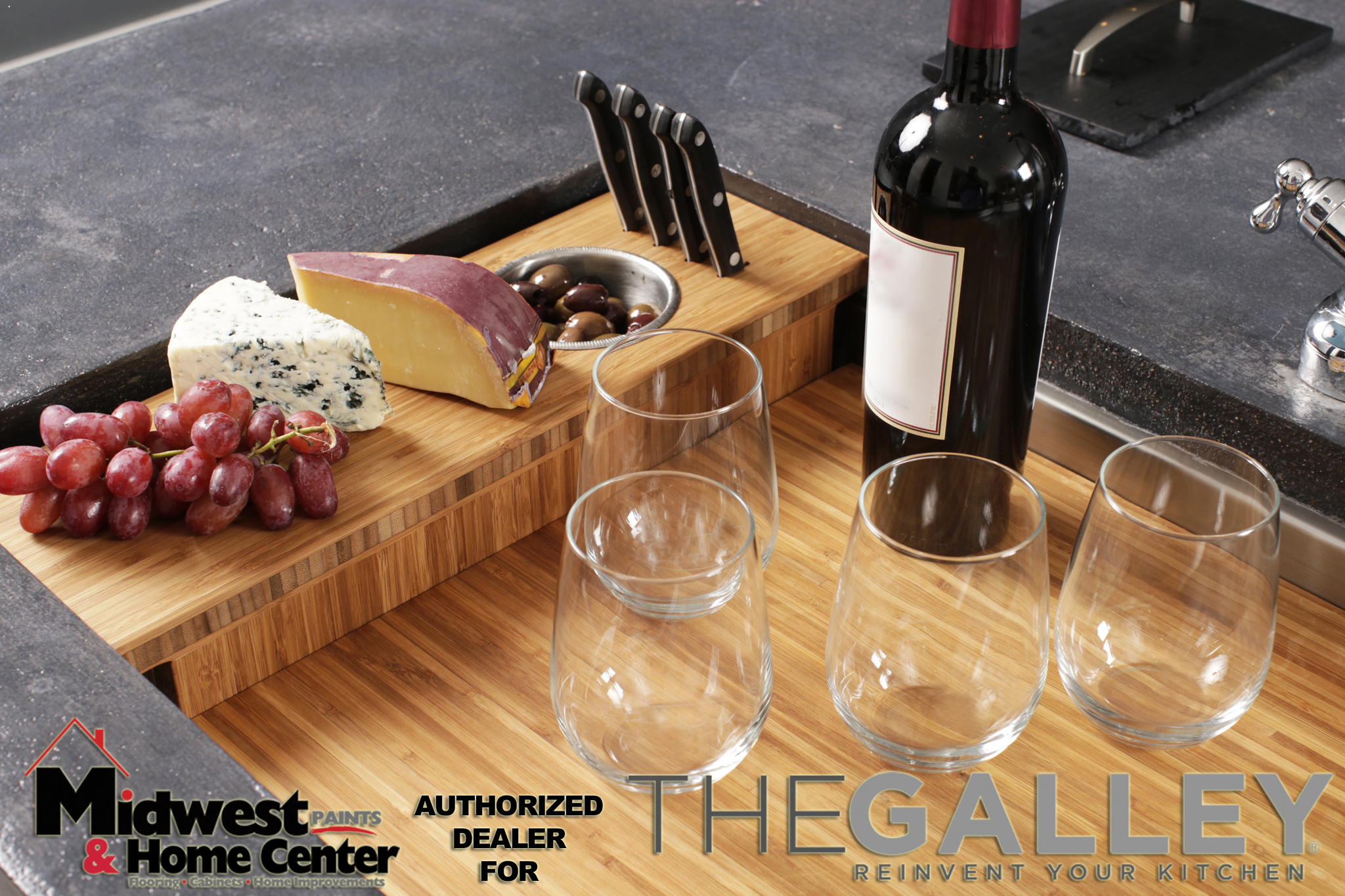 Appetizer Board with Dual-tier Cutting Board_thumb copy