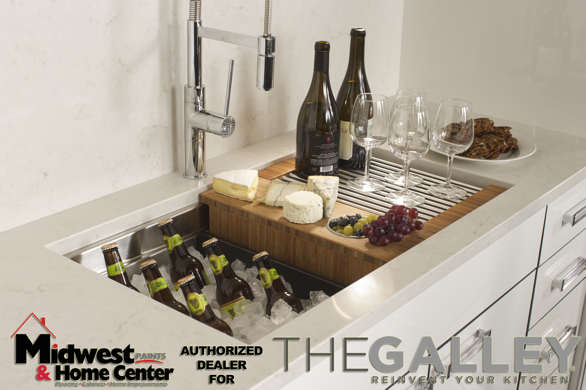 The galley kitchen authorized dealer for quincy and for Galley kitchen sink