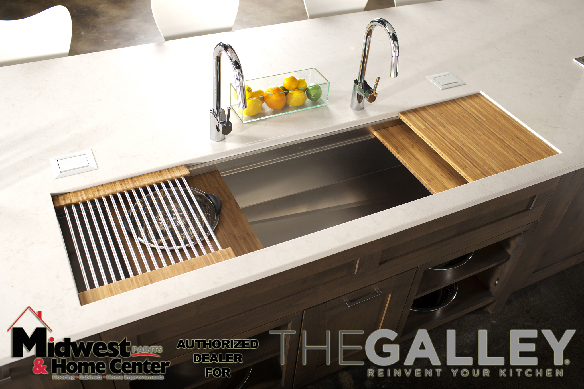 9/25/14 1:39:42 PM -- Kitchen interiors of The Galley sink at Metro Appliance for Kitchen Ideas/The Galley  Photo by Shane Bevel