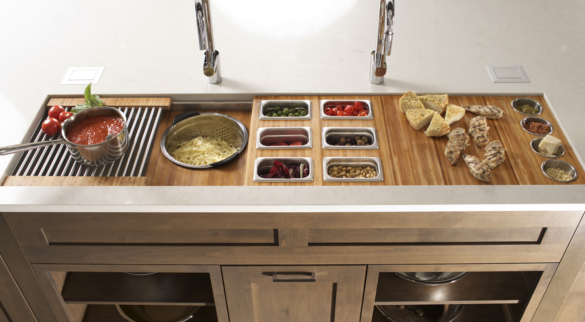 9/25/14 6:23:08 PM -- Kitchen interiors of The Galley sink at Metro Appliance for Kitchen Ideas/The Galley  Photo by Shane Bevel
