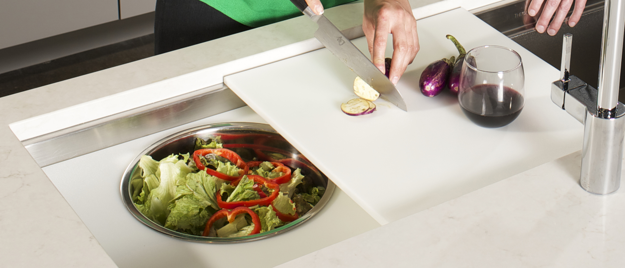 9/25/14 3:42:50 PM -- Kitchen interiors of The Galley sink at Metro Appliance for Kitchen Ideas/The Galley  Photo by Shane Bevel