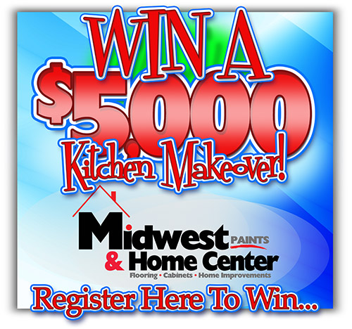 (Contest Has Ended)  Win a $5,000 Kitchen Makeover from Midwest Paints & Home Center in Quincy!